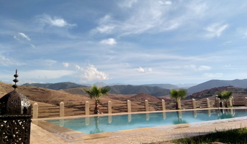 relaxation day and lunch in the pool at TIGMI NOMAD …