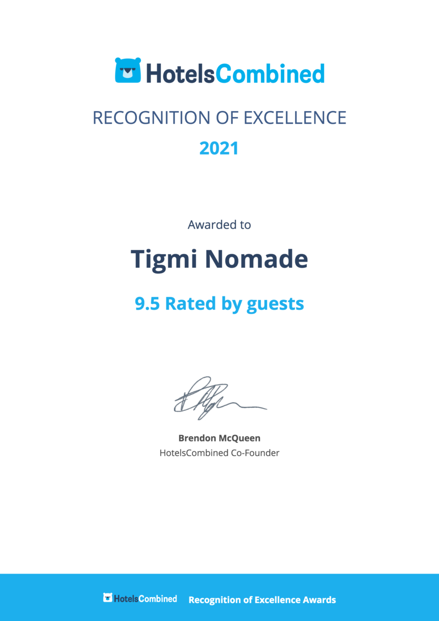 Certificat d'excellence  «Hotels COMBINED».